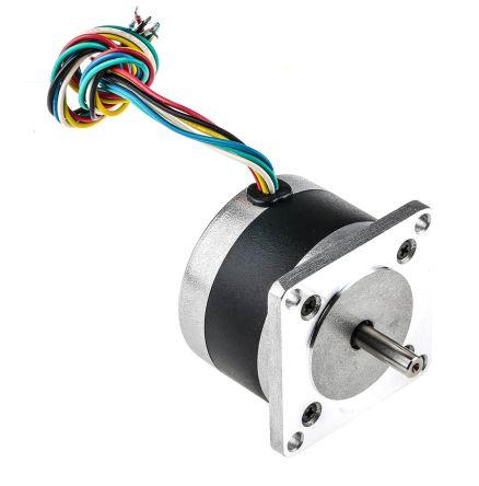 RS PRO Unipolar Hybrid Stepper Motor 1.8°, 4 V, 1.1 A, 6 Wires