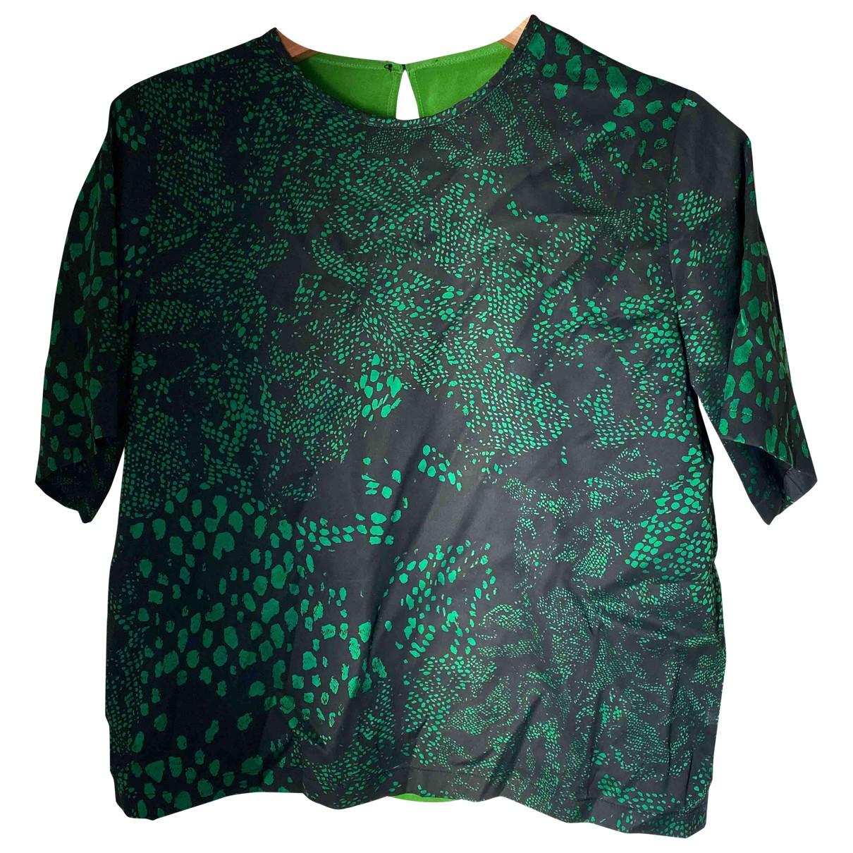 Preen - Top   pour femme en soie - vert