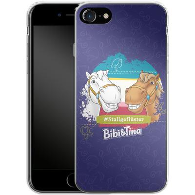 Apple iPhone 8 Silikon Handyhuelle - Bibi und Tina Stallgefluester von Bibi & Tina