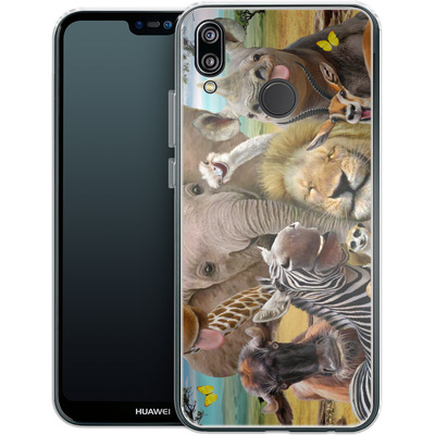 Huawei P20 Lite Silikon Handyhuelle - Africa Selfie von Howard Robinson