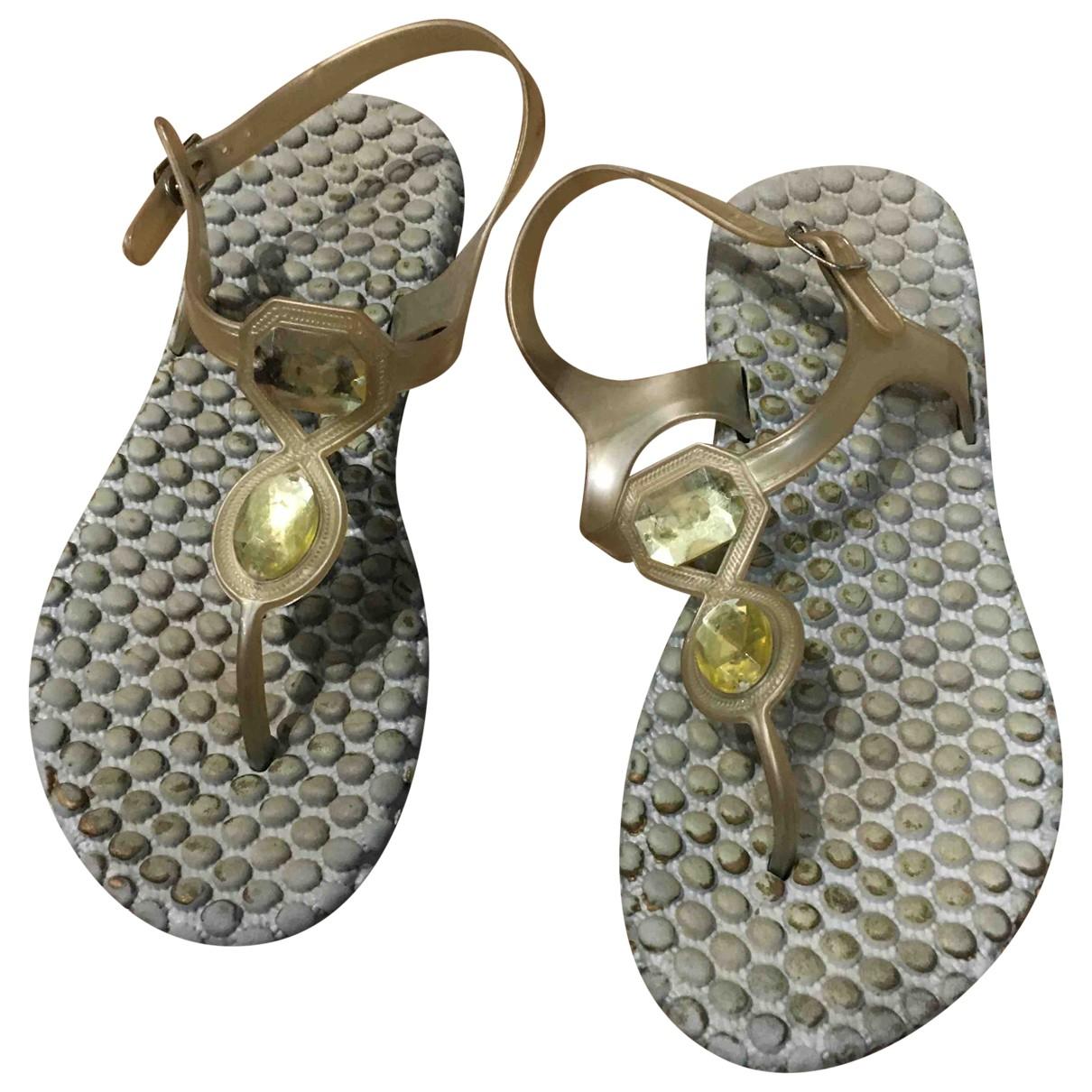 - Sandales   pour femme en caoutchouc - gris