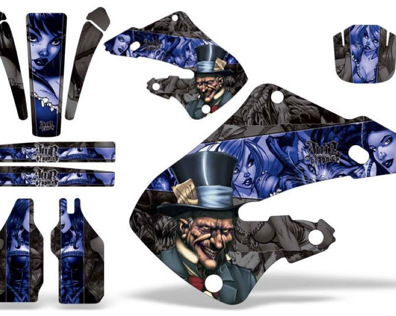AMR Racing Dirt Bike Graphics Kit Decal Wrap Honda CR125 1998-1999   CR250 1997-1999 HATTER BLUE BLACK