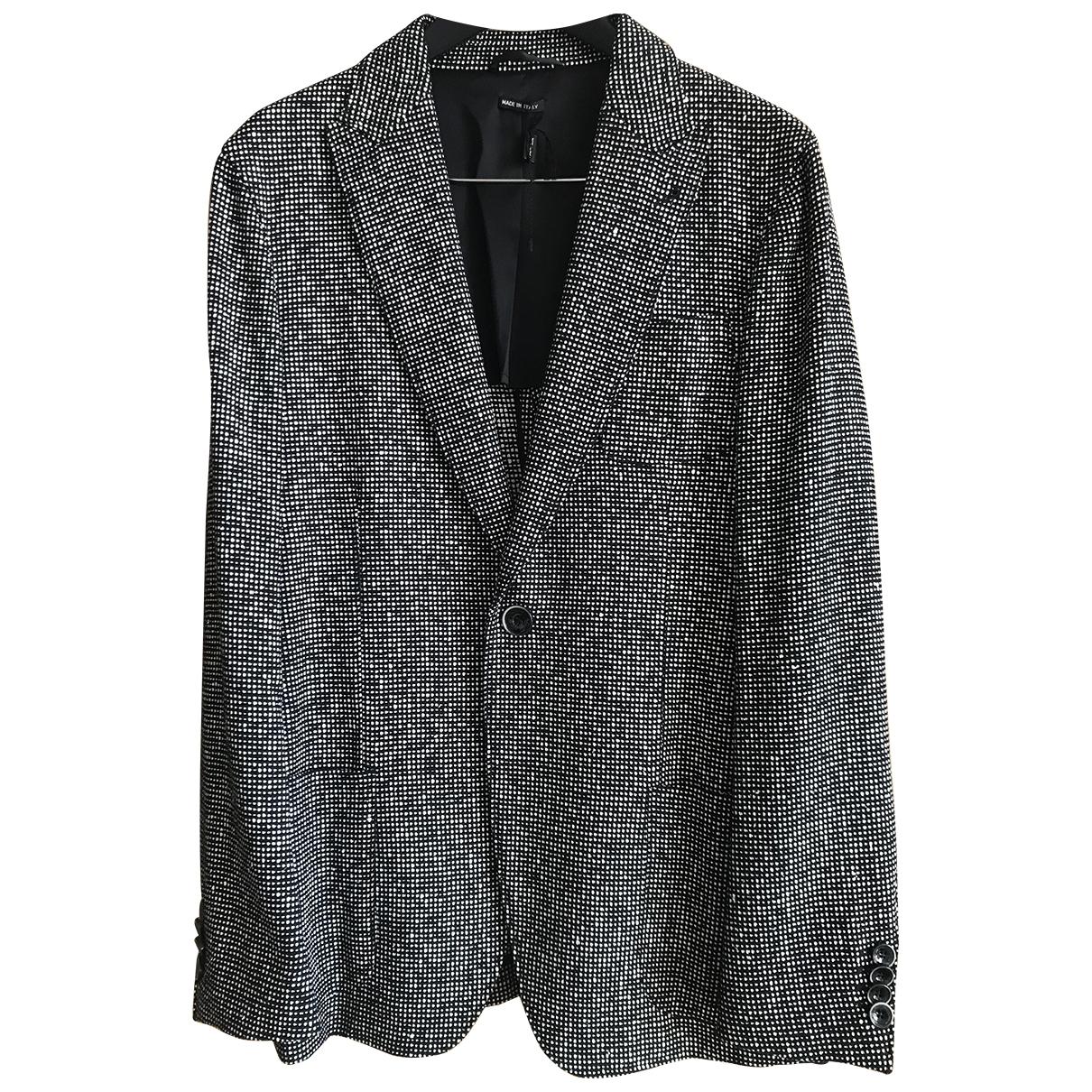 Giorgio Armani \N Black Cotton jacket  for Men 52 IT