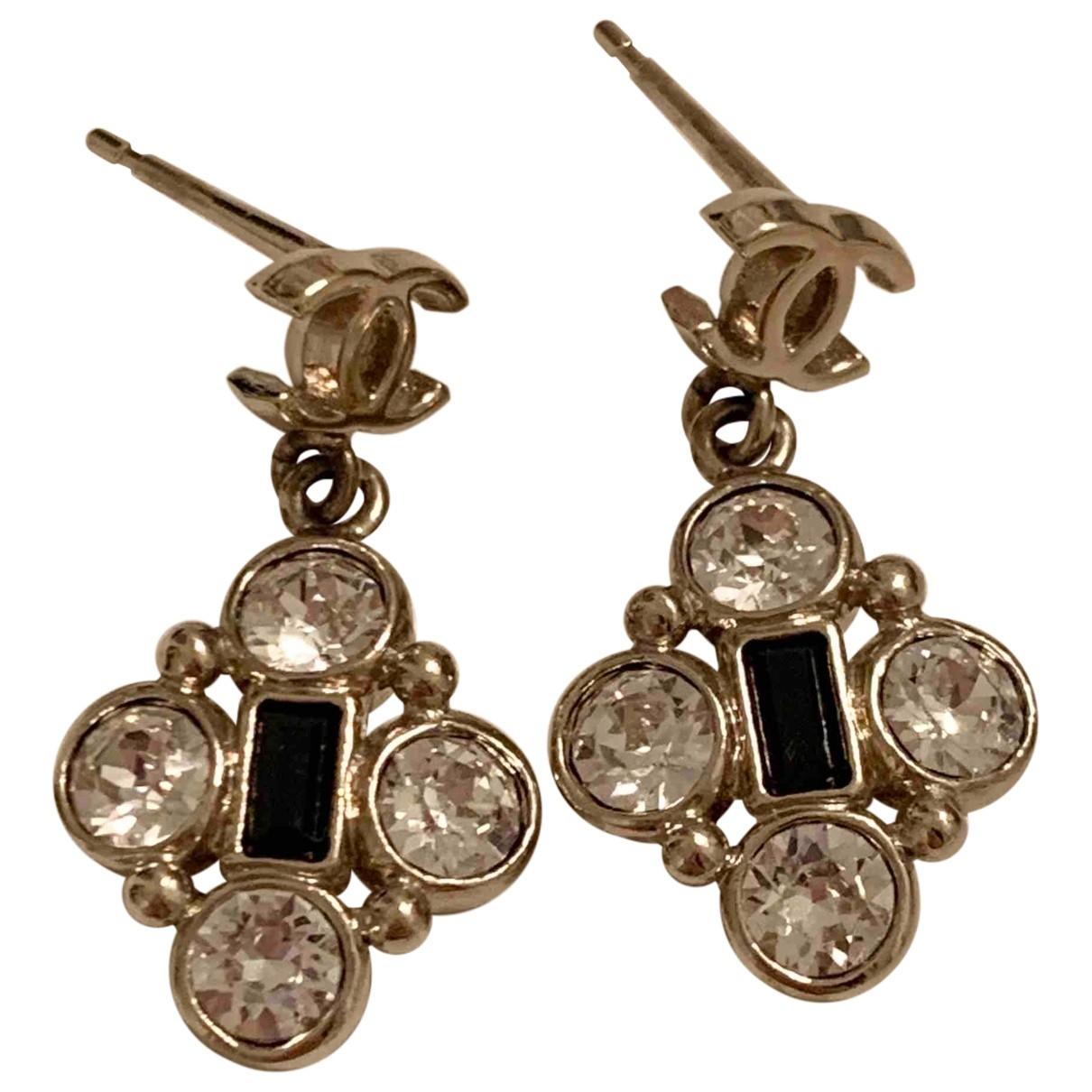 Chanel - Boucles doreilles   pour femme en or et acier - dore