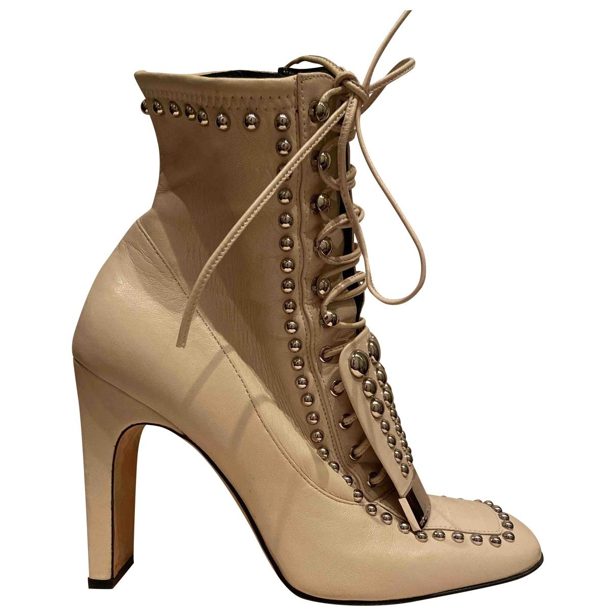 Sergio Rossi - Boots SR1 pour femme en cuir - blanc