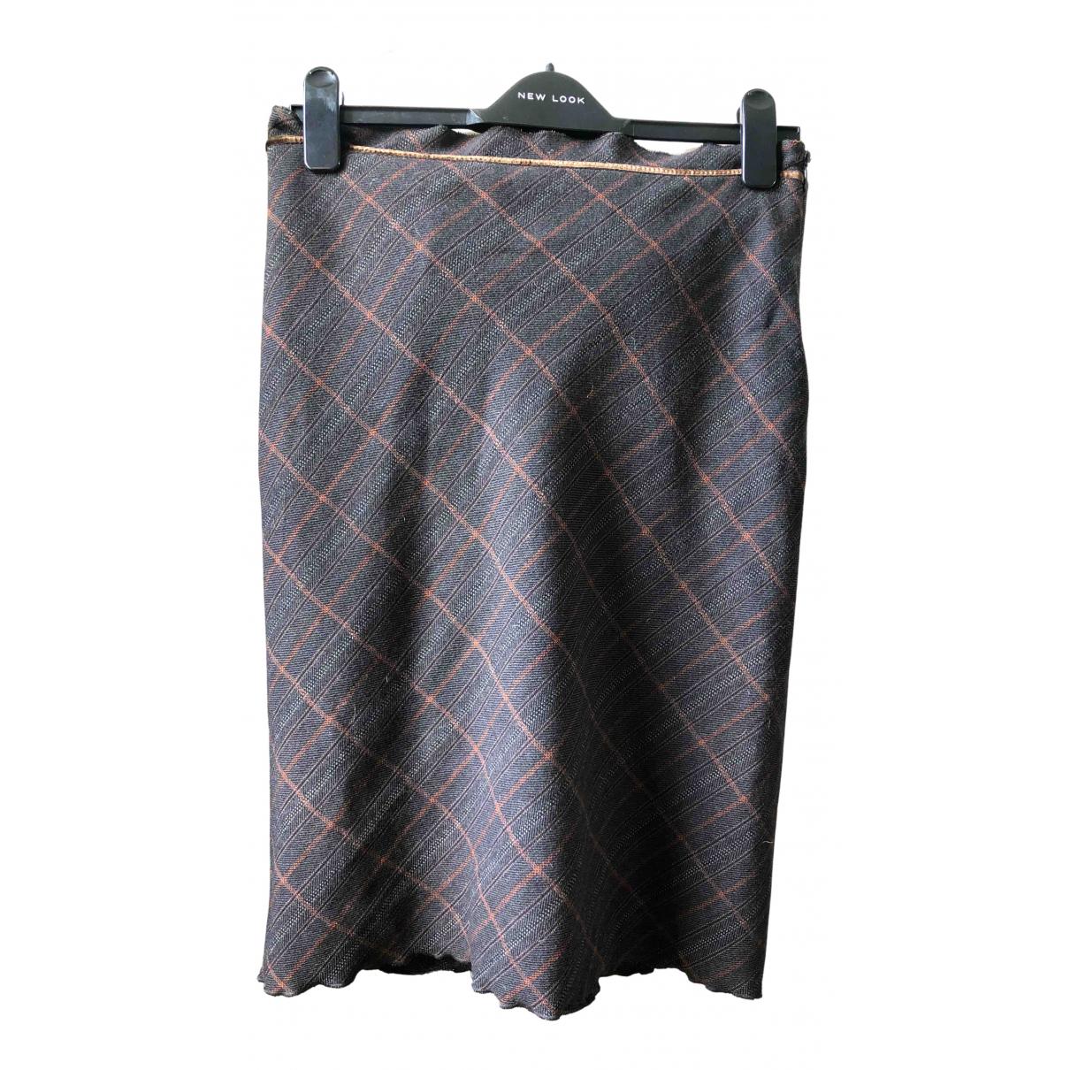 Boss N Multicolour Wool skirt for Women 6 UK