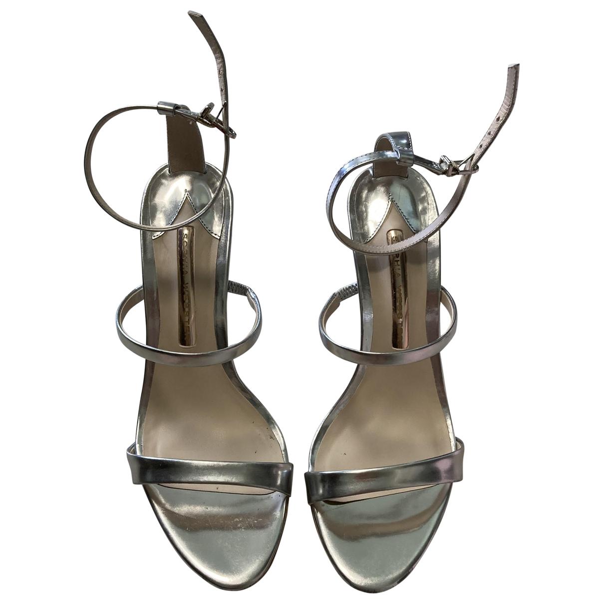 Sophia Webster \N Grey Leather Sandals for Women 37 EU