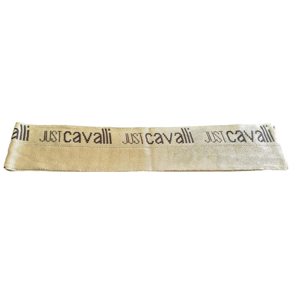 Just Cavalli \N Schal in  Gold Wolle