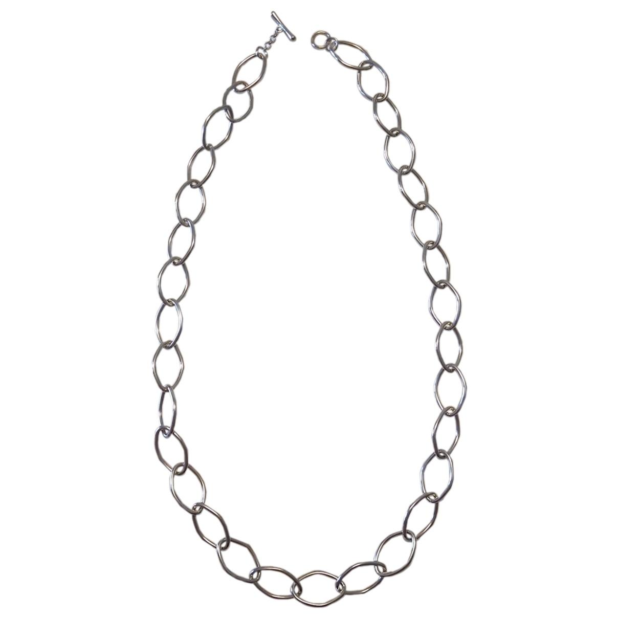- Sautoir Chaines pour femme en argent - argente