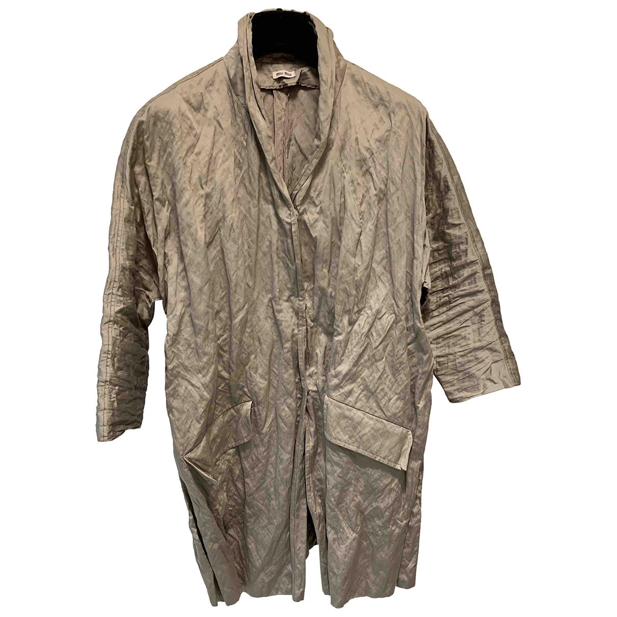 Miu Miu - Manteau   pour femme en coton - beige