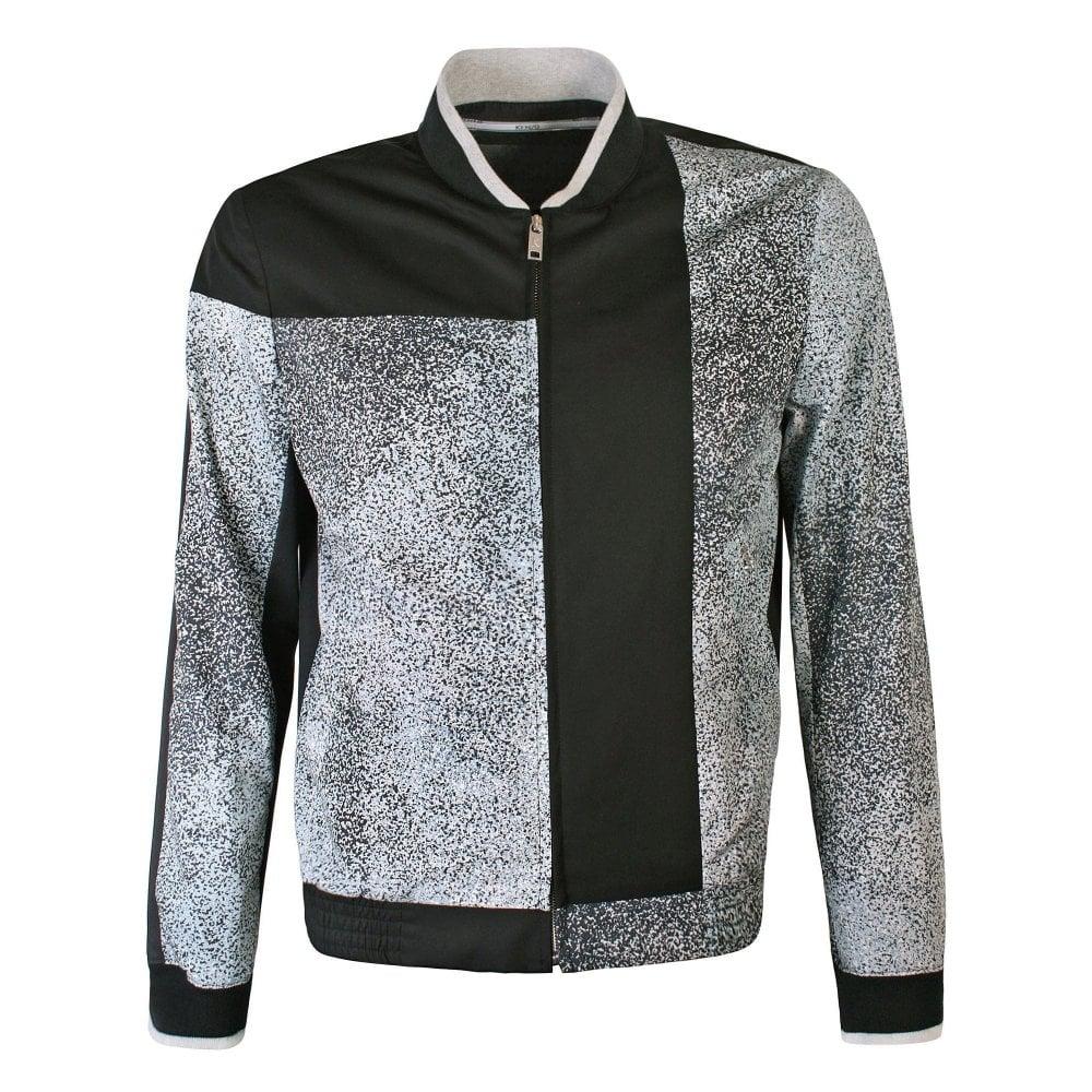 Kenzo Printed Cotton Bomber Jacket Colour: BLACK, Size: LARGE