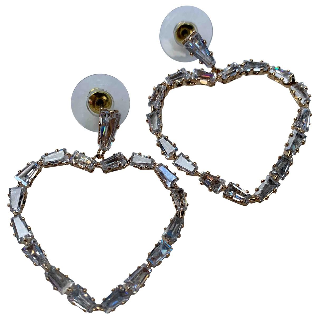 - Boucles doreilles Motifs Coeurs pour femme en acier - dore