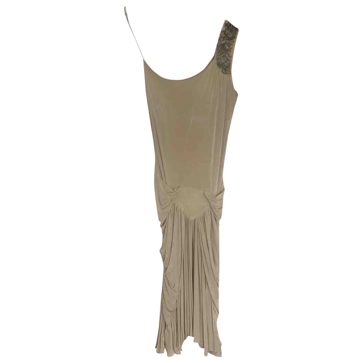Roberto Cavalli \N Kleid in  Beige Viskose
