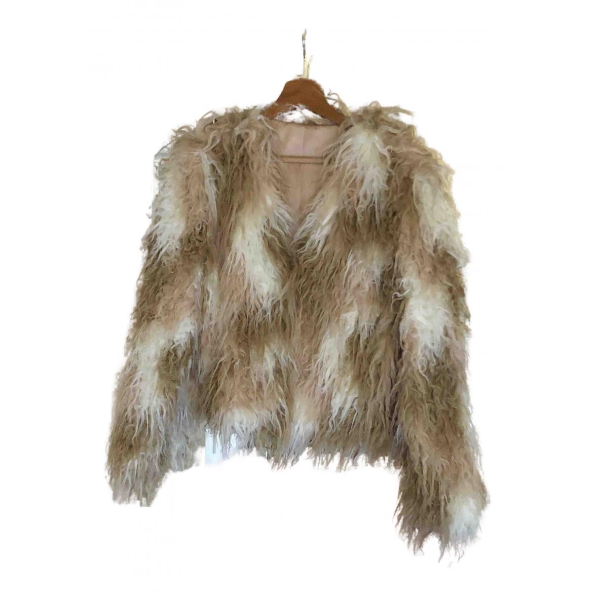 & Stories N Beige Faux fur jacket for Women 12 US