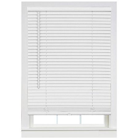 Cordless Deluxe Sundown GII 1in Horizontal Mini Blinds, One Size , White