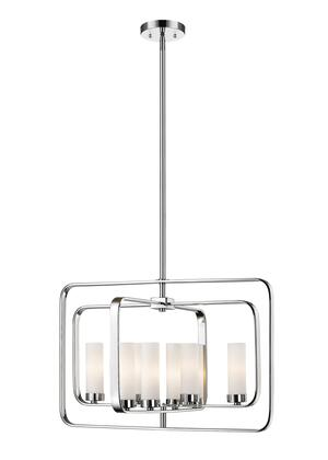 Aideen 6000-8A-CH 24.24 8 Light Pendant Contemporary  Transitional  Fusionhave Steel Frame with Chrome finish in Matte