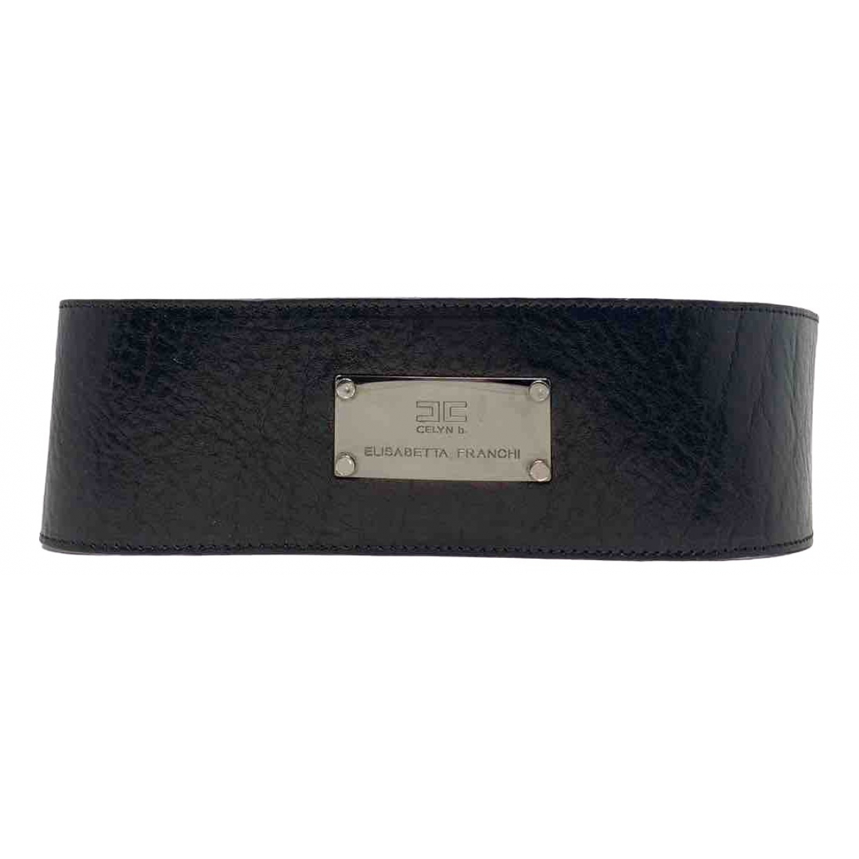 Elisabetta Franchi \N Black Leather belt for Women M International