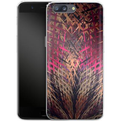 OnePlus 5 Silikon Handyhuelle - Grid Explosion von Danny Ivan
