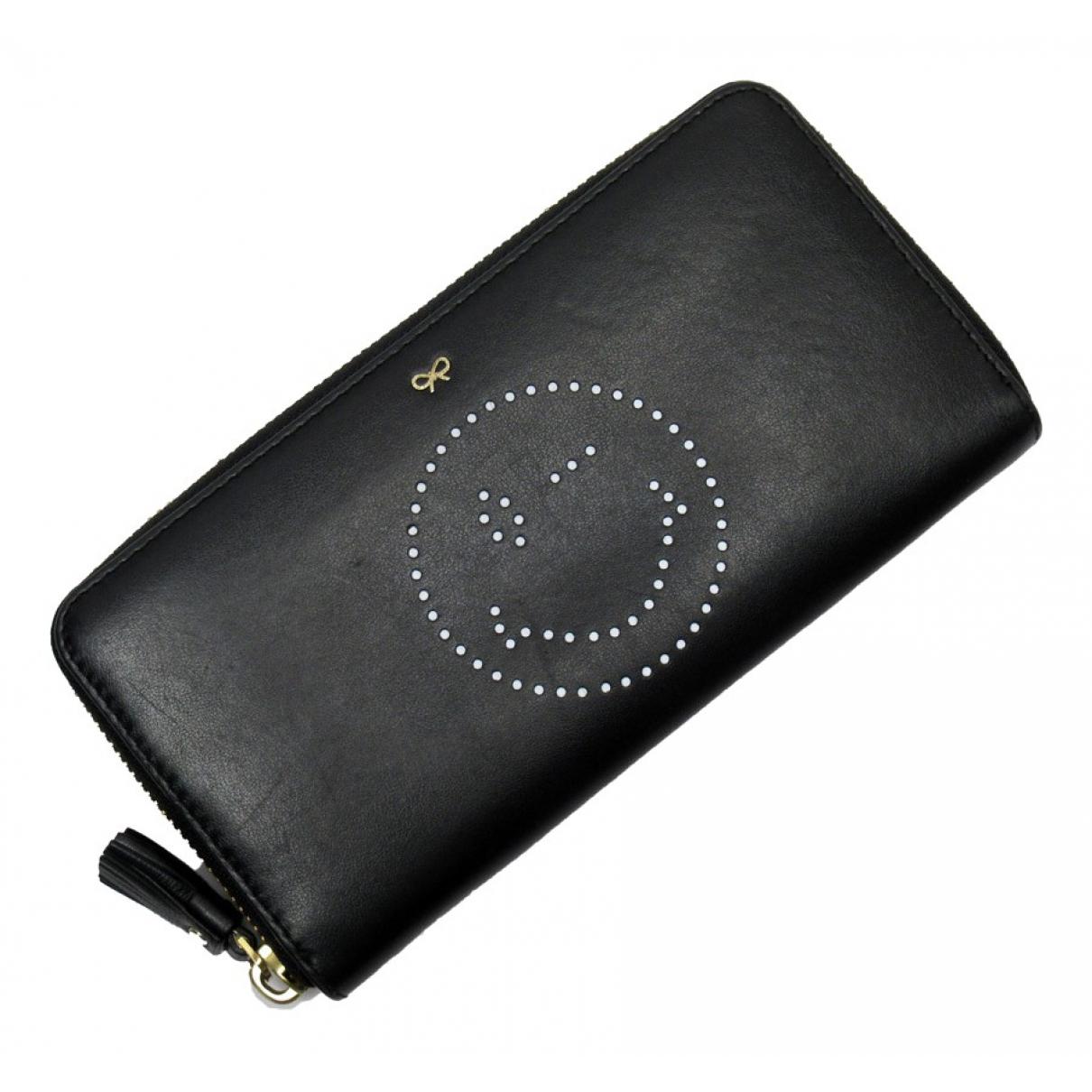 Anya Hindmarch - Portefeuille   pour femme en cuir - noir