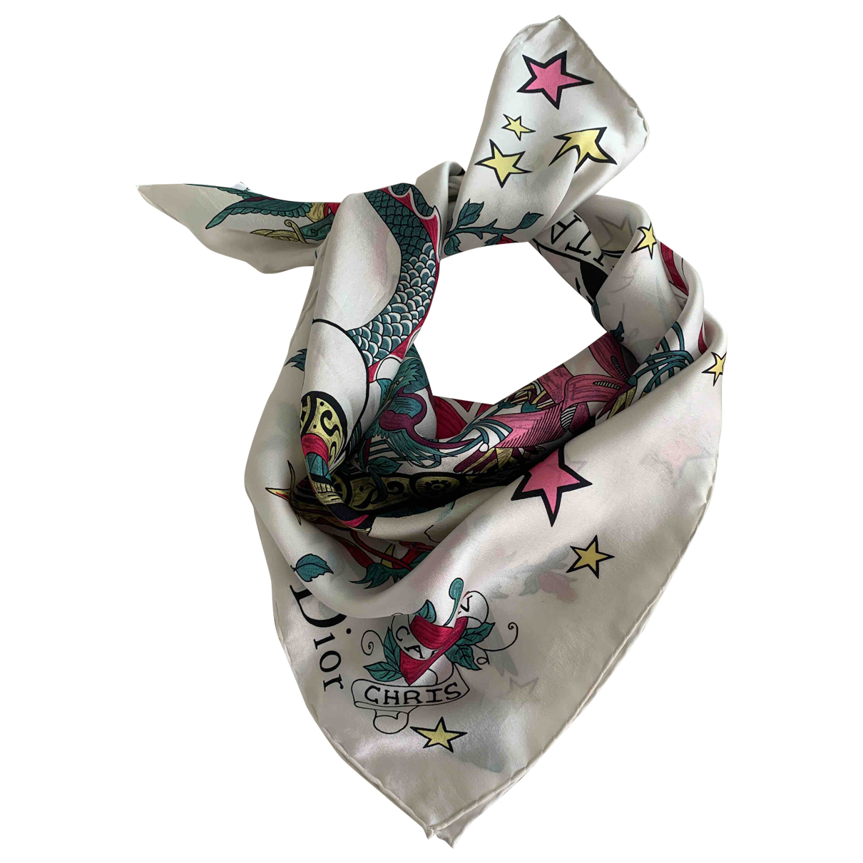 Dior \N Multicolour Silk scarf for Women \N