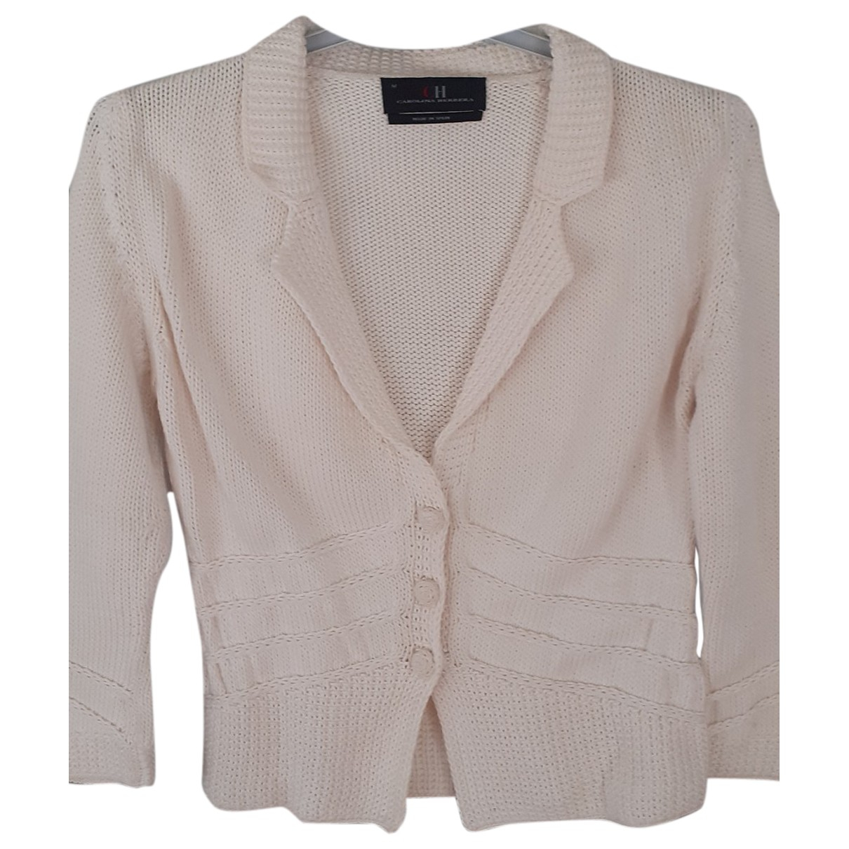 Carolina Herrera \N Ecru Cotton Knitwear for Women M International