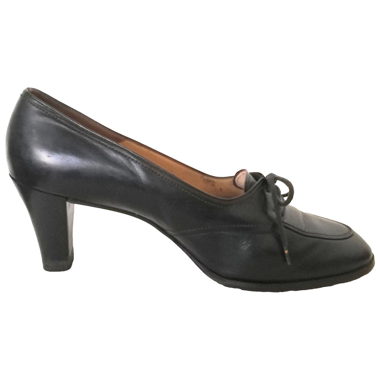 Bally N Black Leather Heels for Women 6.5 UK