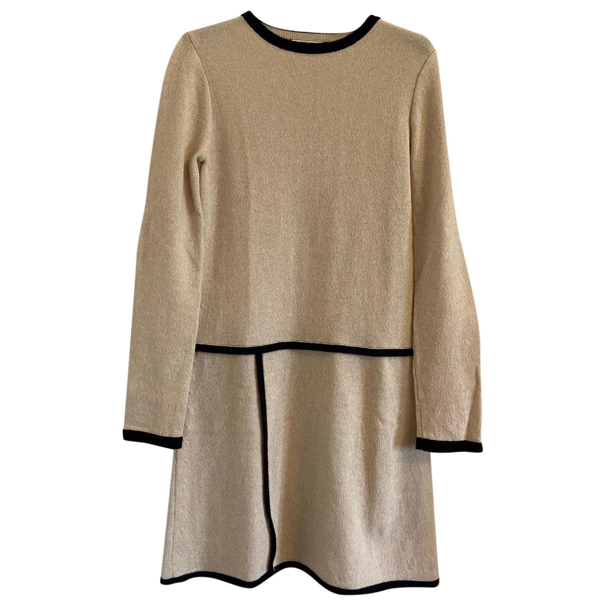Bouchra Jarrar N Ecru Wool dress for Women 38 FR