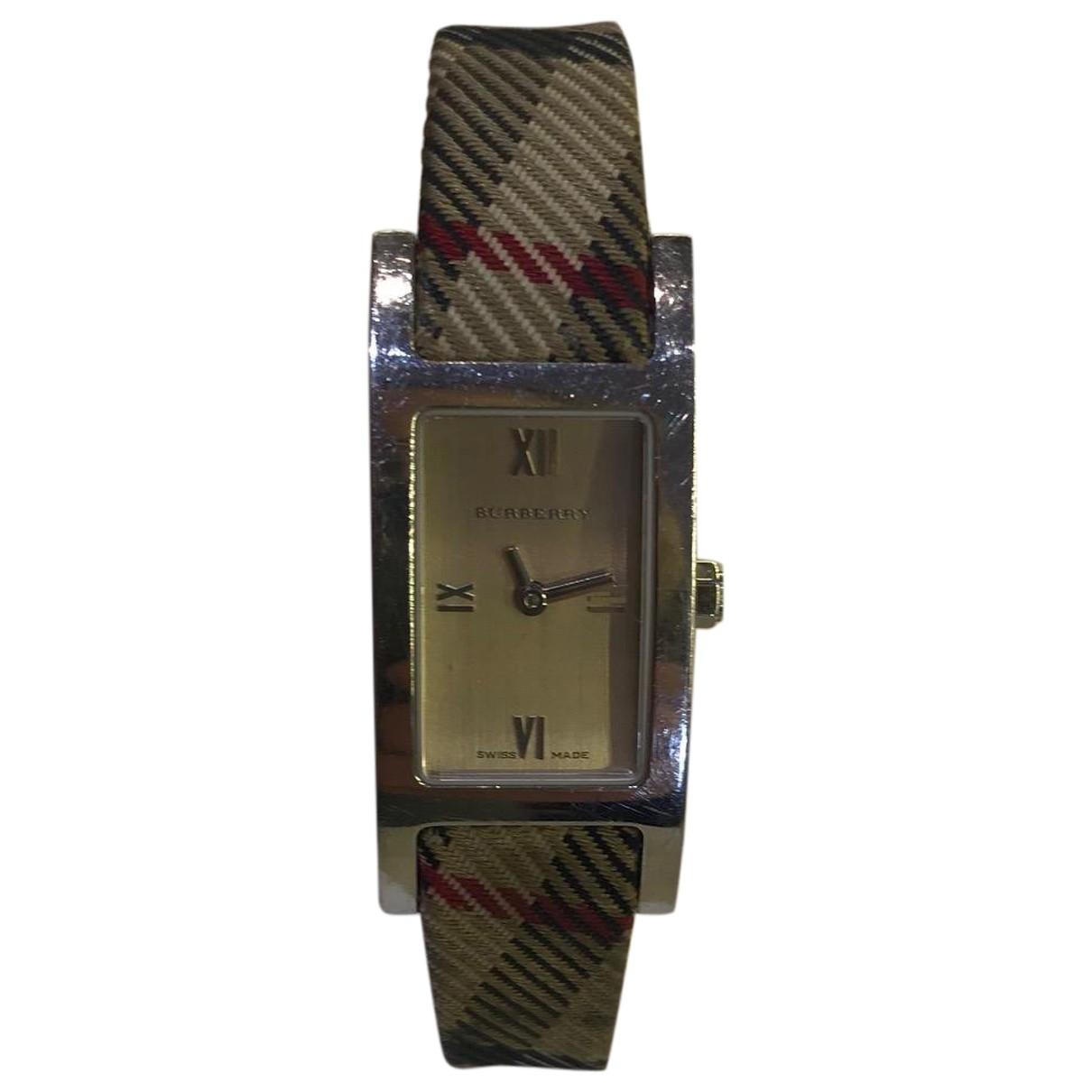 Burberry \N Beige Steel watch for Women \N
