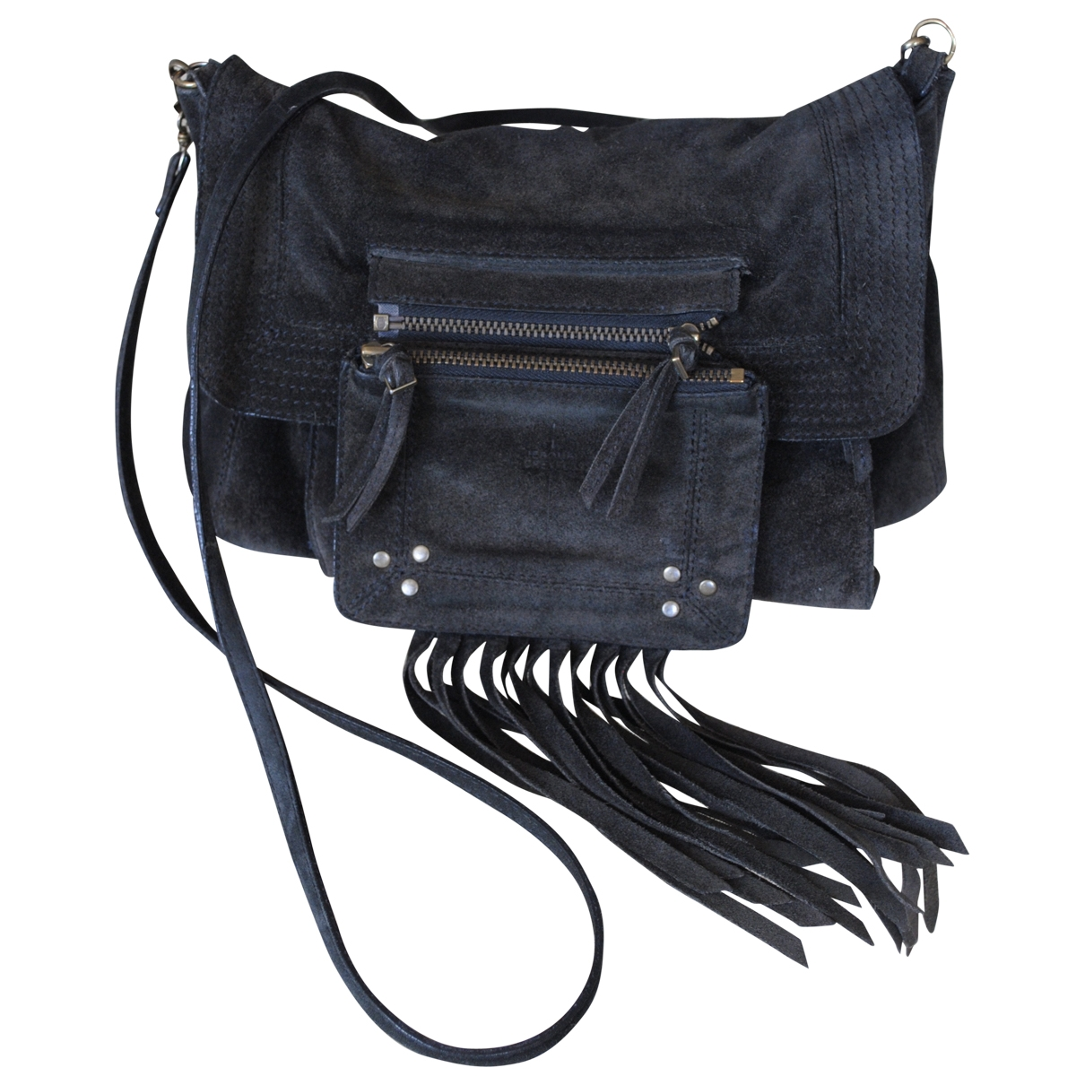 Jerome Dreyfuss Lucien Anthracite Suede handbag for Women \N
