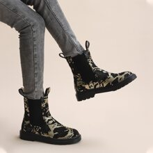 Snakeskin Wide Fit Chelsea Boots