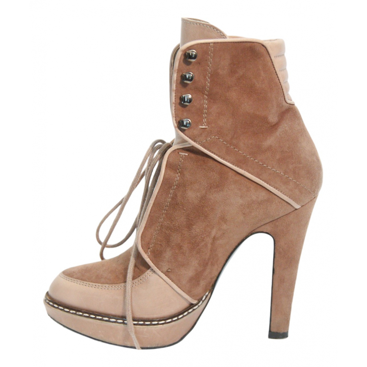 Barbara Bui N Beige Suede Ankle boots for Women 36 EU