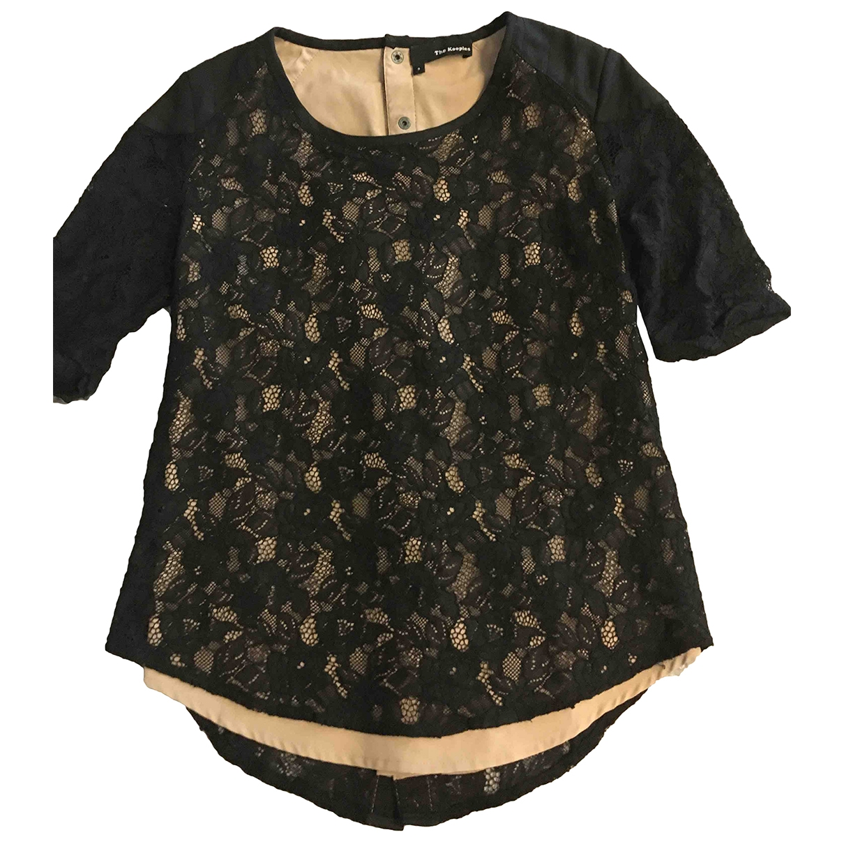 The Kooples Fall Winter 2019 Black Lace  top for Women 38 FR