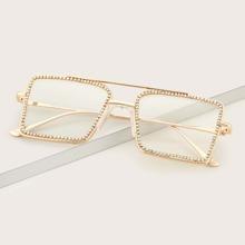 Brille mit Strass Dekor