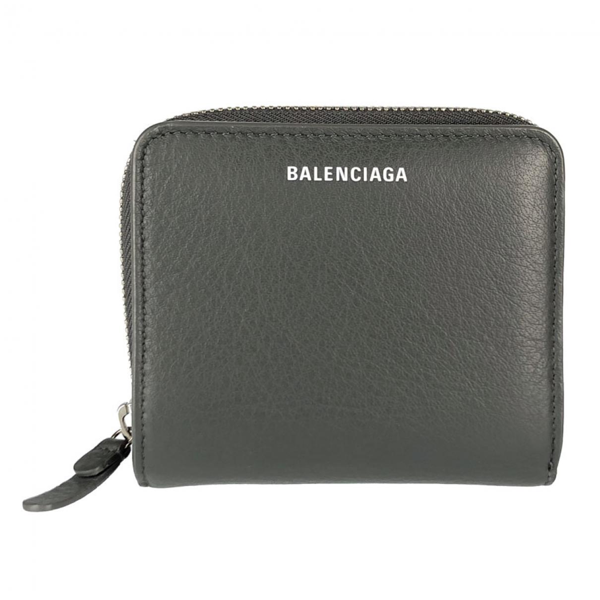 Balenciaga \N Portemonnaie in  Grau Leder