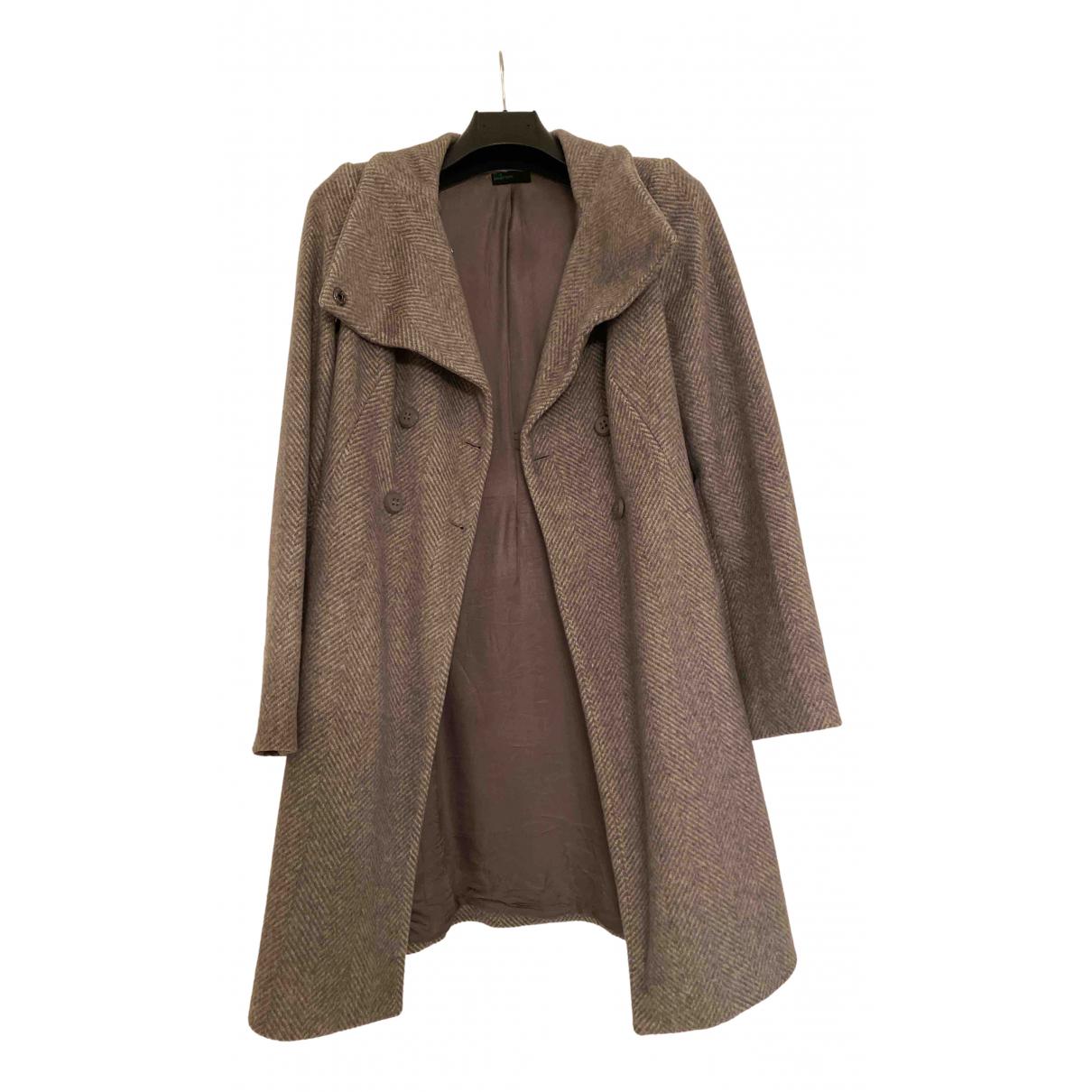 Benetton - Manteau   pour femme en laine - gris