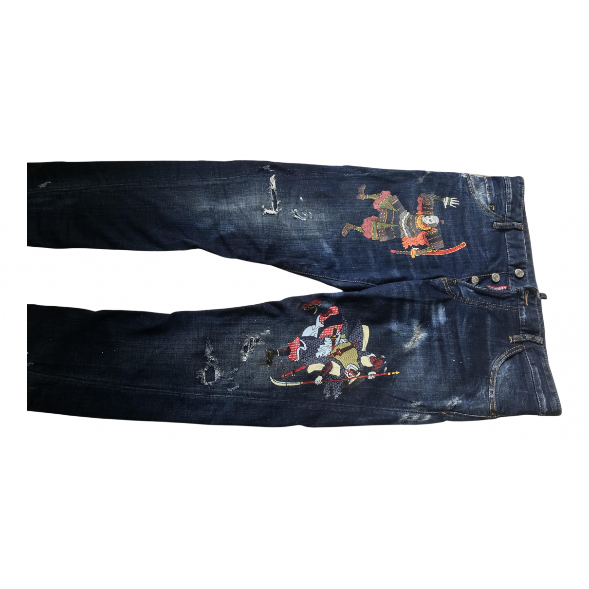 Dsquared2 \N Blue Cotton Jeans for Men 46 FR