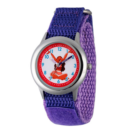 Disney Moana Girls Purple Strap Watch-Wds000034, One Size , No Color Family