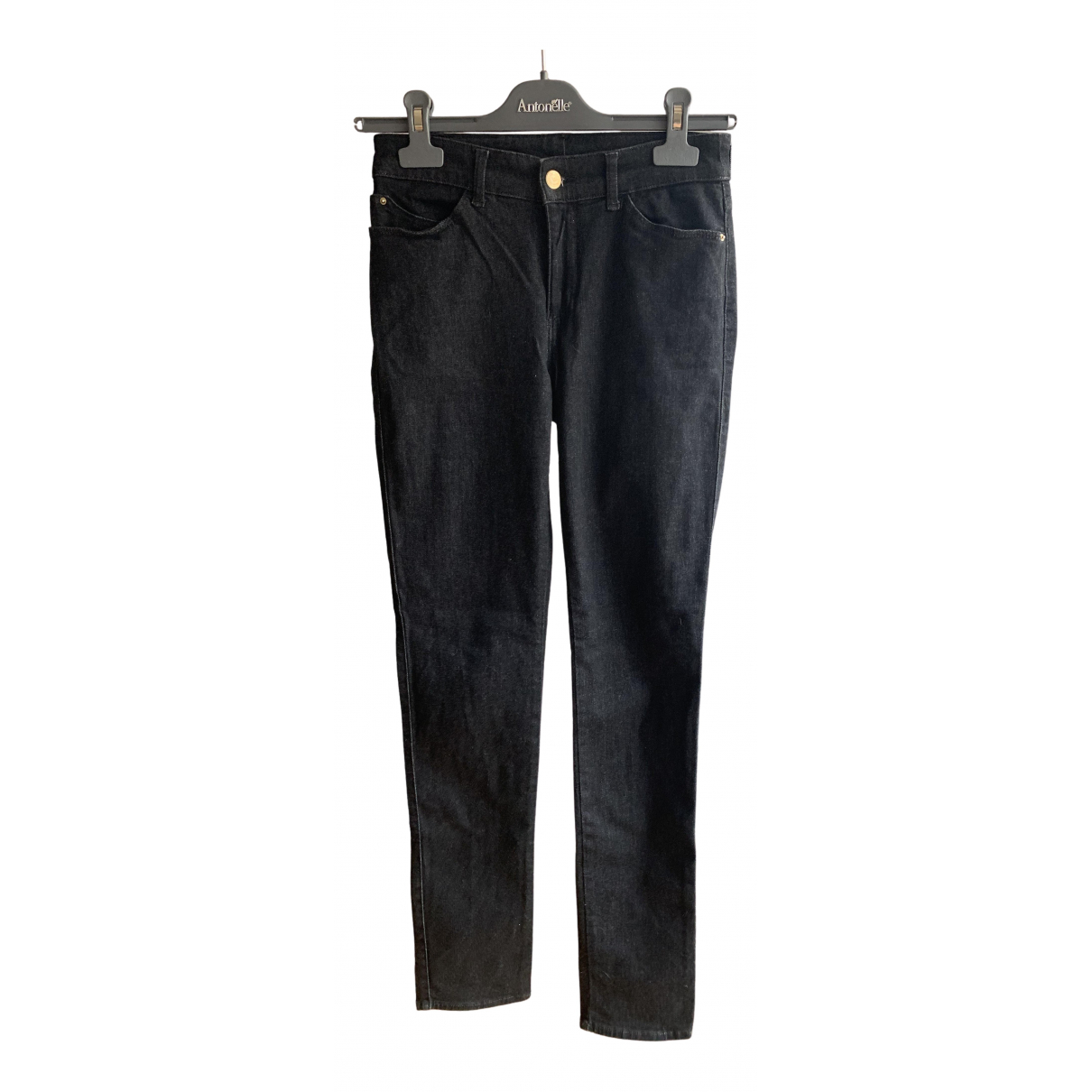 Emporio Armani N Anthracite Cotton Jeans for Women 26 US
