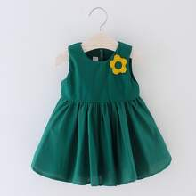 Toddler Girls Appliques Wings Design A-line Dress