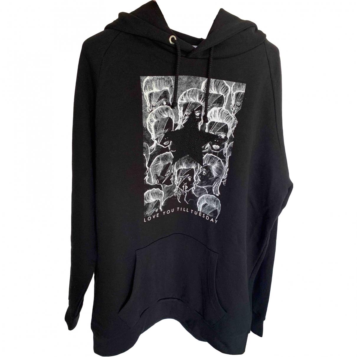John Richmond \N Pullover.Westen.Sweatshirts  in  Schwarz Baumwolle