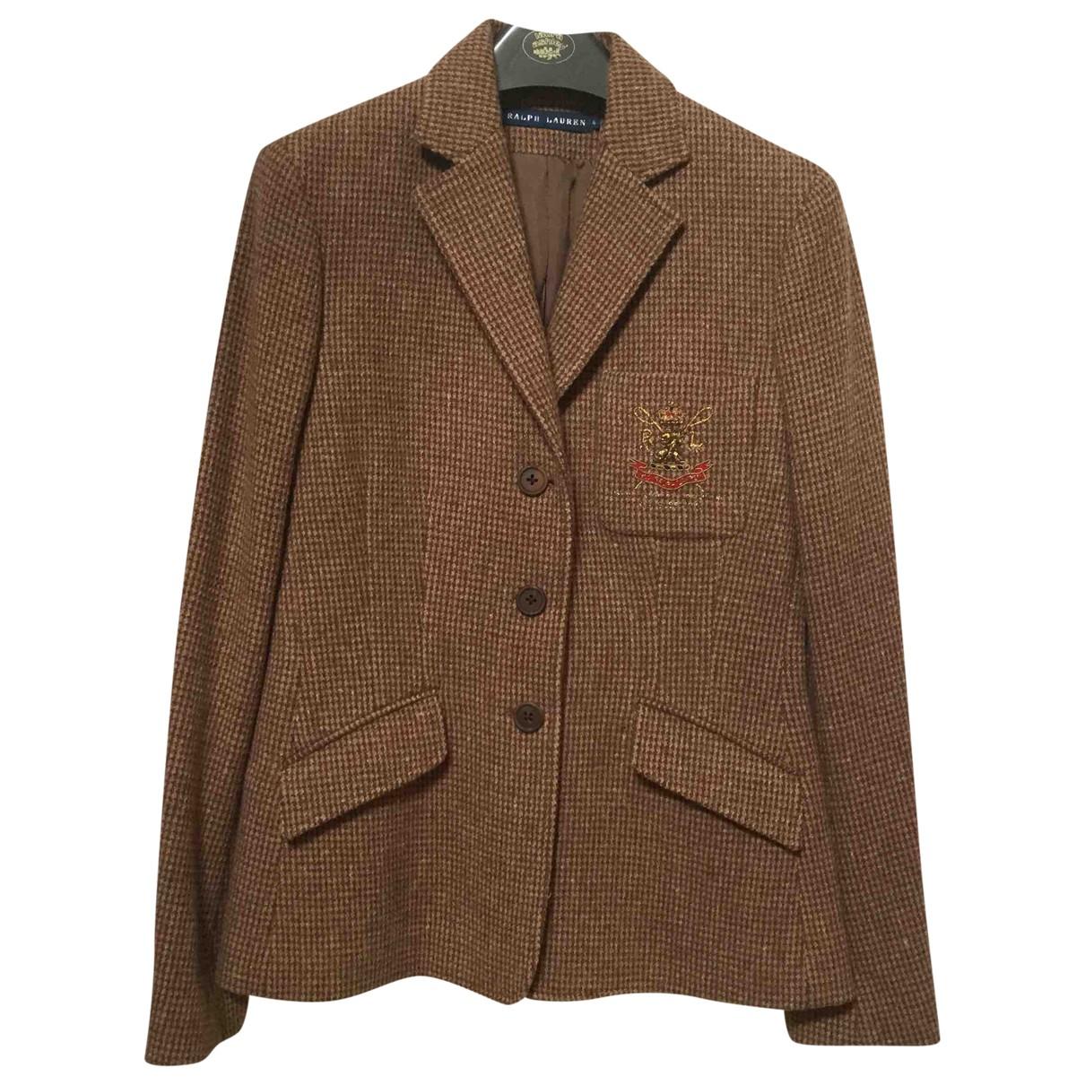 Ralph Lauren - Veste   pour femme en laine - marron