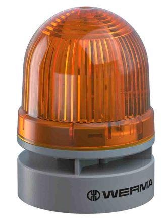Werma EvoSIGNAL Mini Sounder Beacon Yellow LED, 12 V