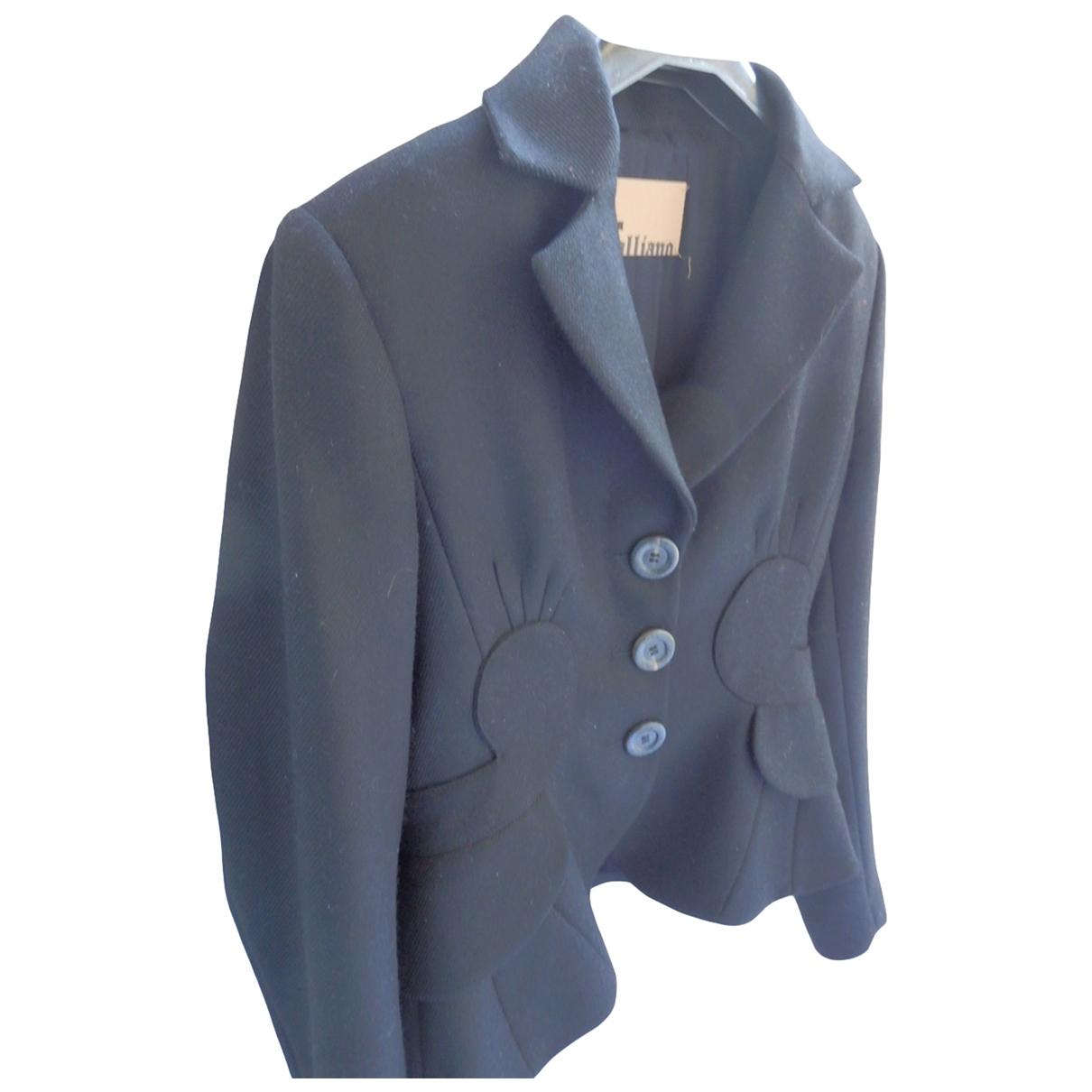 John Galliano \N Black Wool jacket for Women 38 FR