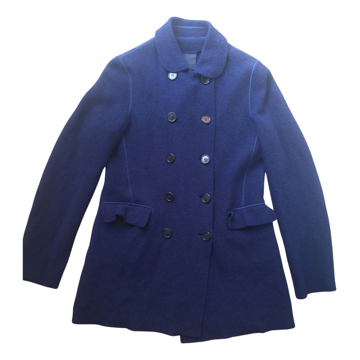 Aspesi \N Blue Wool jacket for Women 44 IT