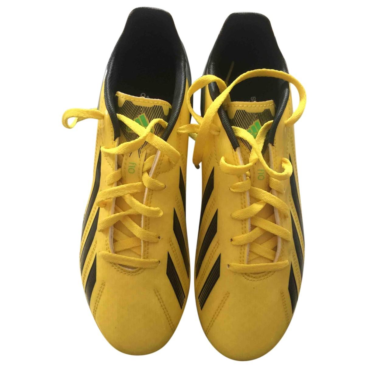 Adidas - Baskets   pour enfant en caoutchouc - jaune