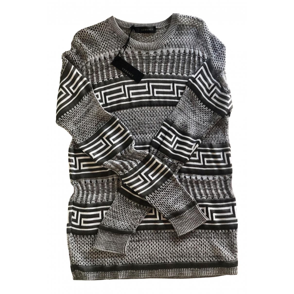 Versace \N Pullover.Westen.Sweatshirts  in  Grau Baumwolle