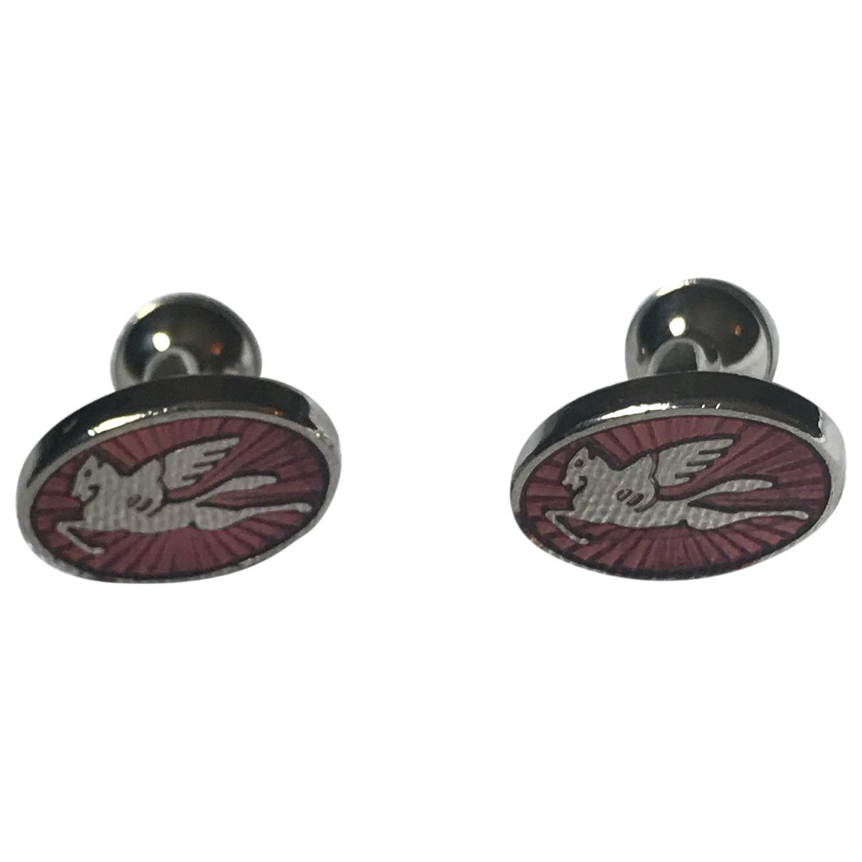 Burberry \N Silver Metal Cufflinks for Men \N