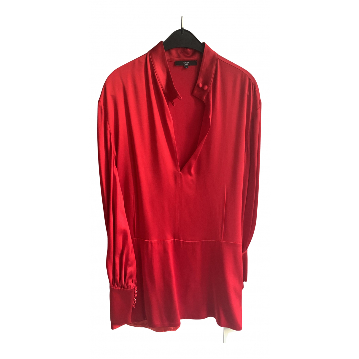 Non Signé / Unsigned N Red Silk dress for Women L International