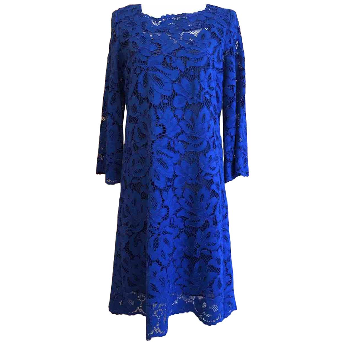 Gerard Darel - Robe   pour femme en dentelle - bleu