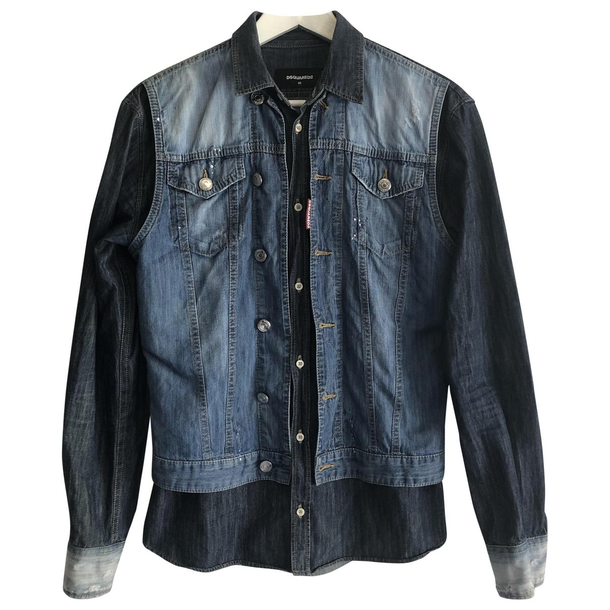 Dsquared2 \N Blue Denim - Jeans Shirts for Men S International